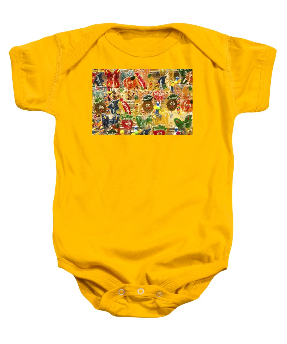 Candy Baby Onesie featuring the photograph Barcelona Candy by Steven Sparks