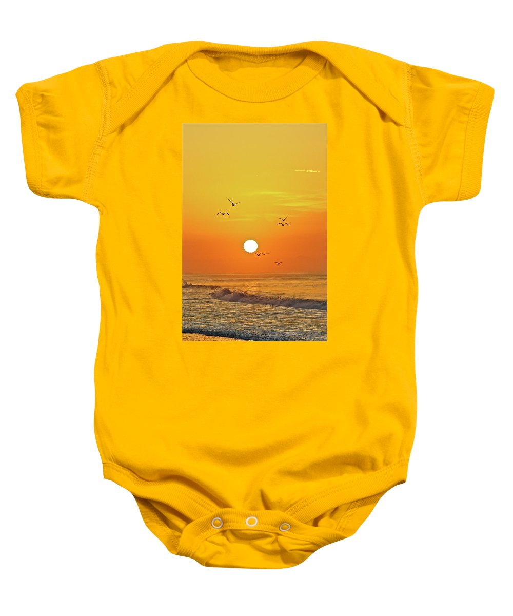 Beach Baby Onesie featuring the photograph Beautiful Morning by Diana Hatcher