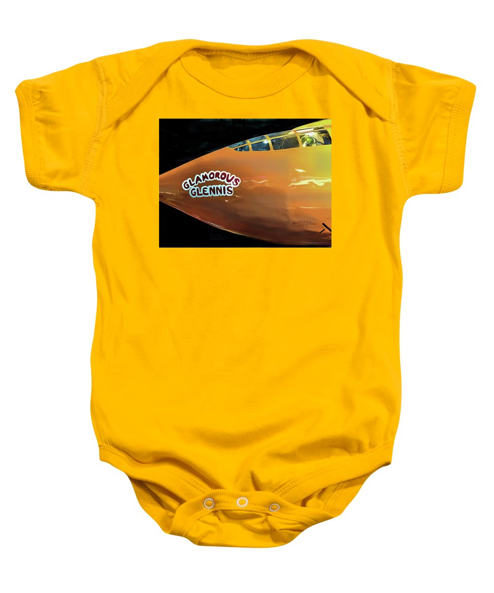 Glamorous Glennis Baby Onesie featuring the photograph Bell X-1 Glamorous Glennis by John Straton