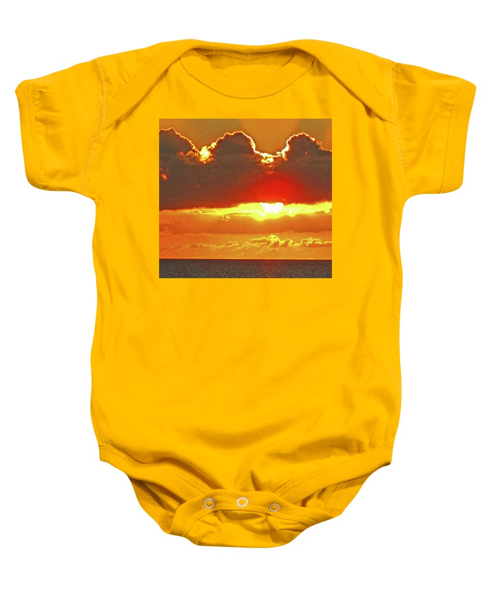 Sunset Baby Onesie featuring the photograph Big Bold Sunset by Ian MacDonald