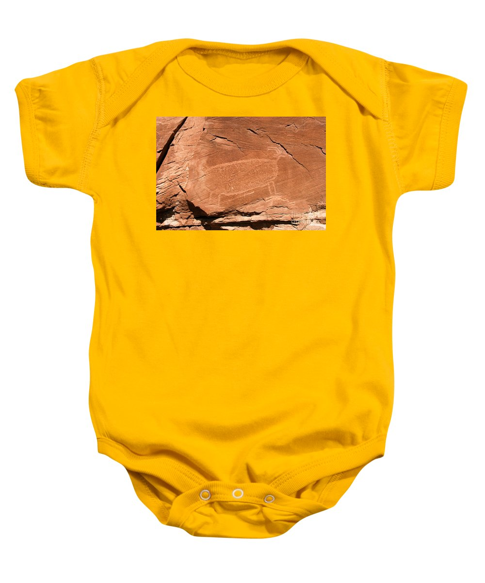 Bighorn Sheep Baby Onesie featuring the photograph Bighorn by David Lee Thompson