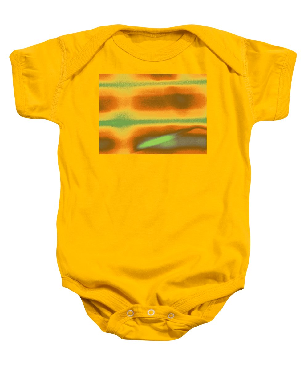 Abstract Baby Onesie featuring the photograph Blinds As Abstract Landscape by Lenore Senior