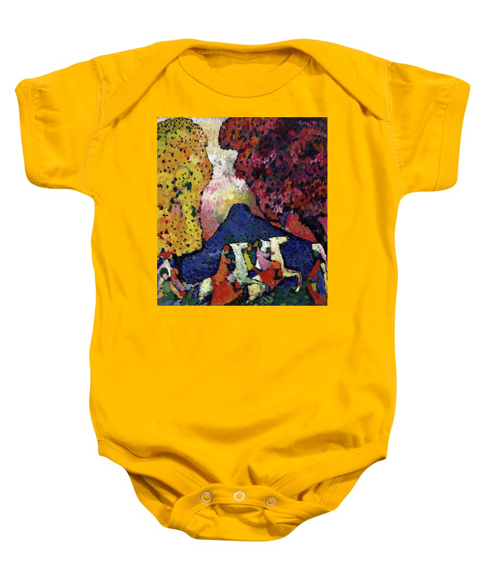 Blue Mountain Onesie For Sale By Wassily Kandinsky