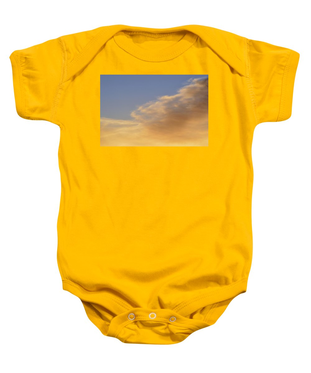 Abstract Baby Onesie featuring the photograph Blue Sky And Clouds Two by Lyle Crump