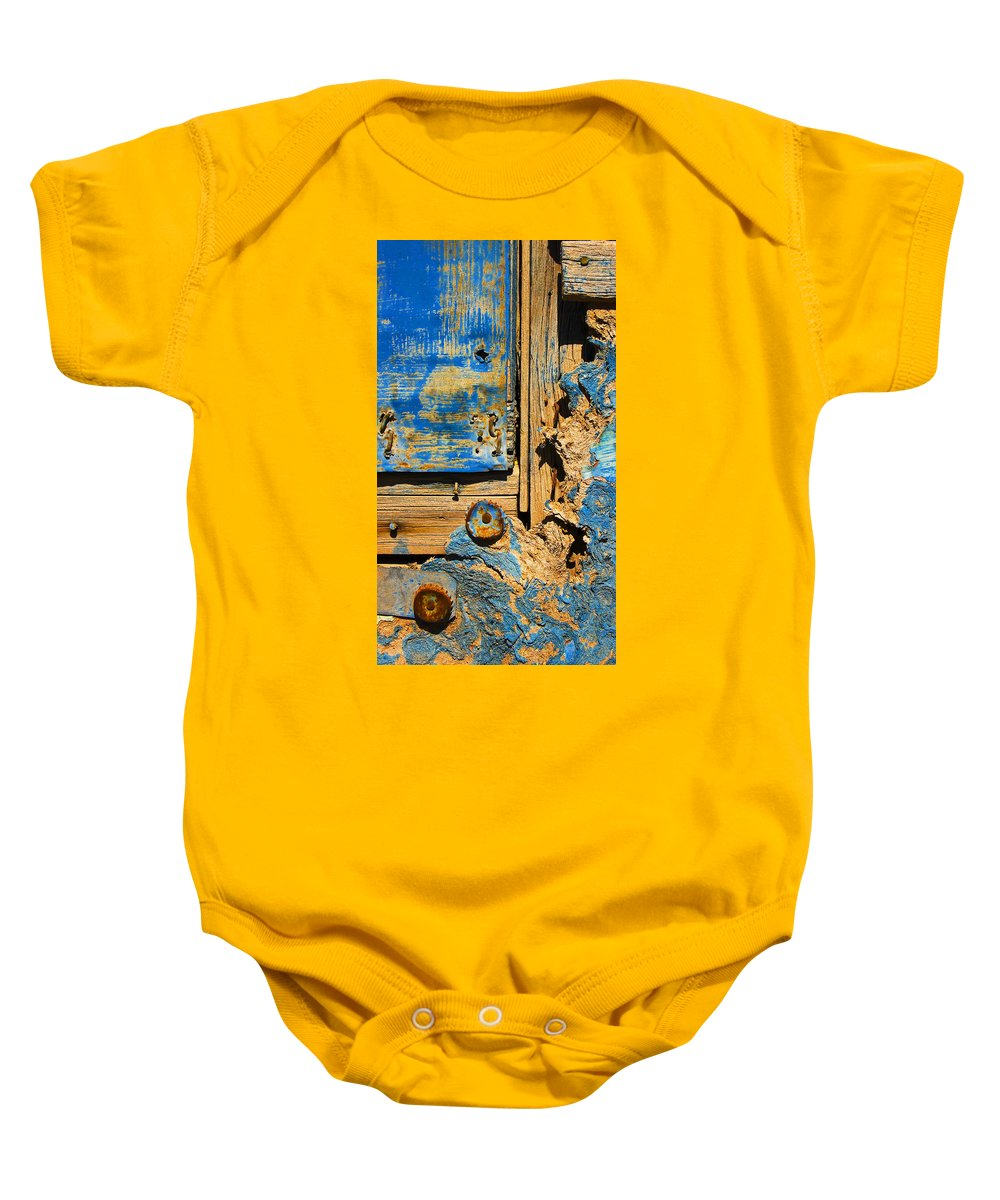 Abstract Baby Onesie featuring the photograph Blues Dues by Skip Hunt