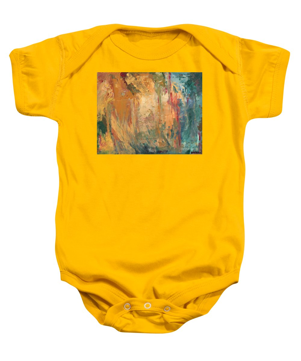 Abstract Painting Baby Onesie featuring the painting Bob by Jaime Becker