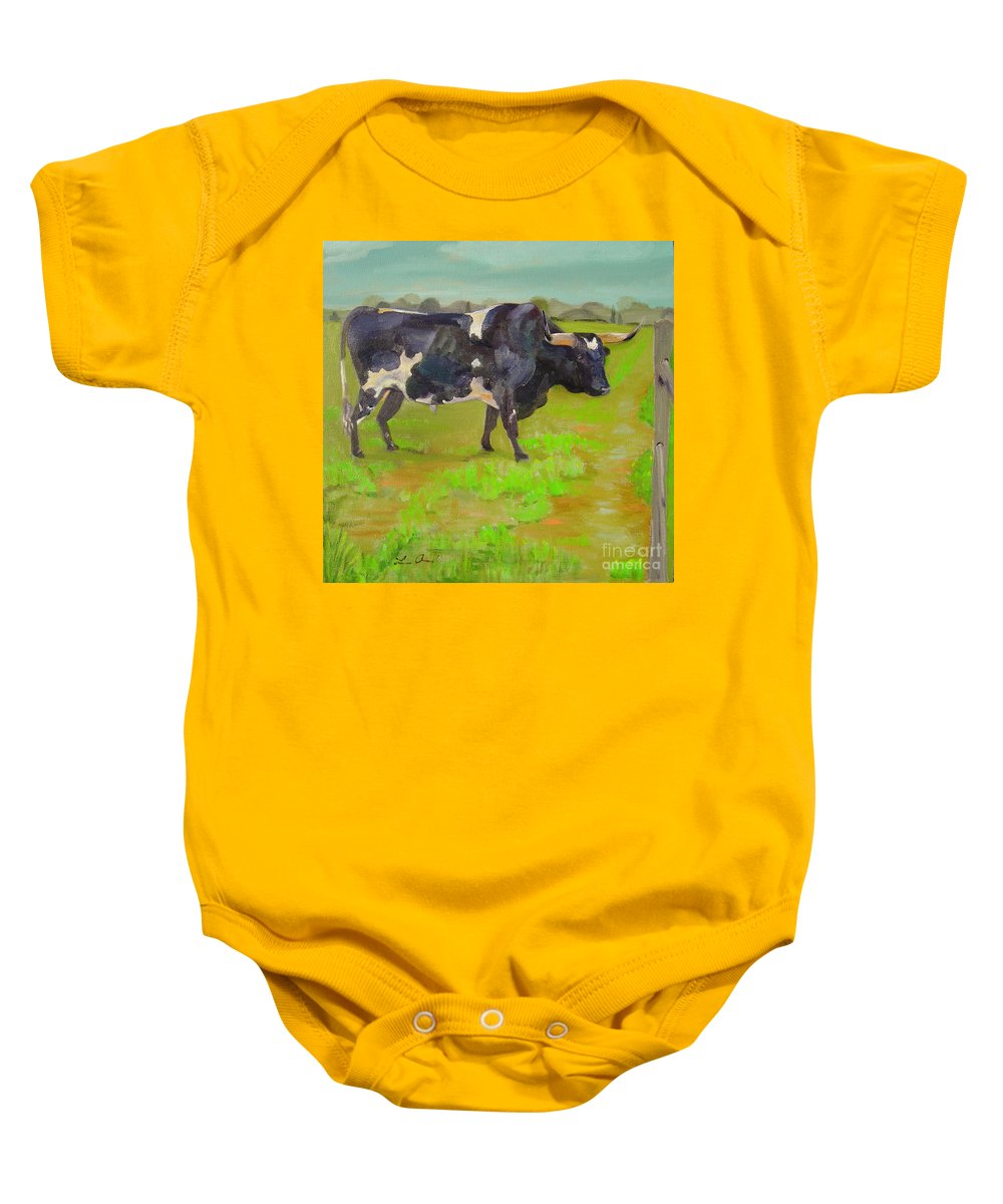 Southwest Baby Onesie featuring the painting Bold Beauty by Lilibeth Andre
