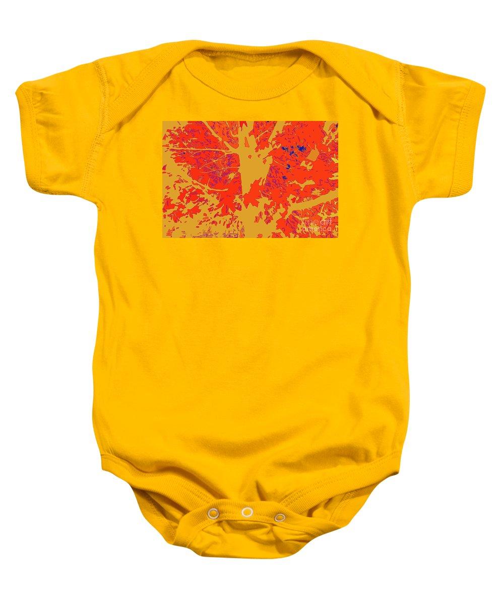 Brandywine Maple Fall Colors 4 Baby Onesie featuring the digital art Brandywine Maple Fall Colors 4 by Chris Taggart