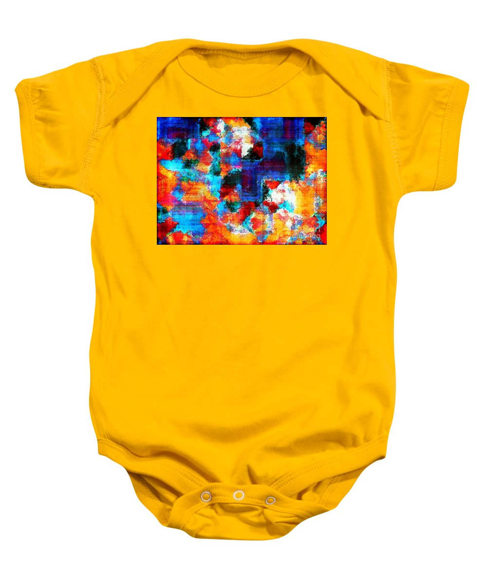 Abstract Baby Onesie featuring the painting Breaking The Rules by RC DeWinter