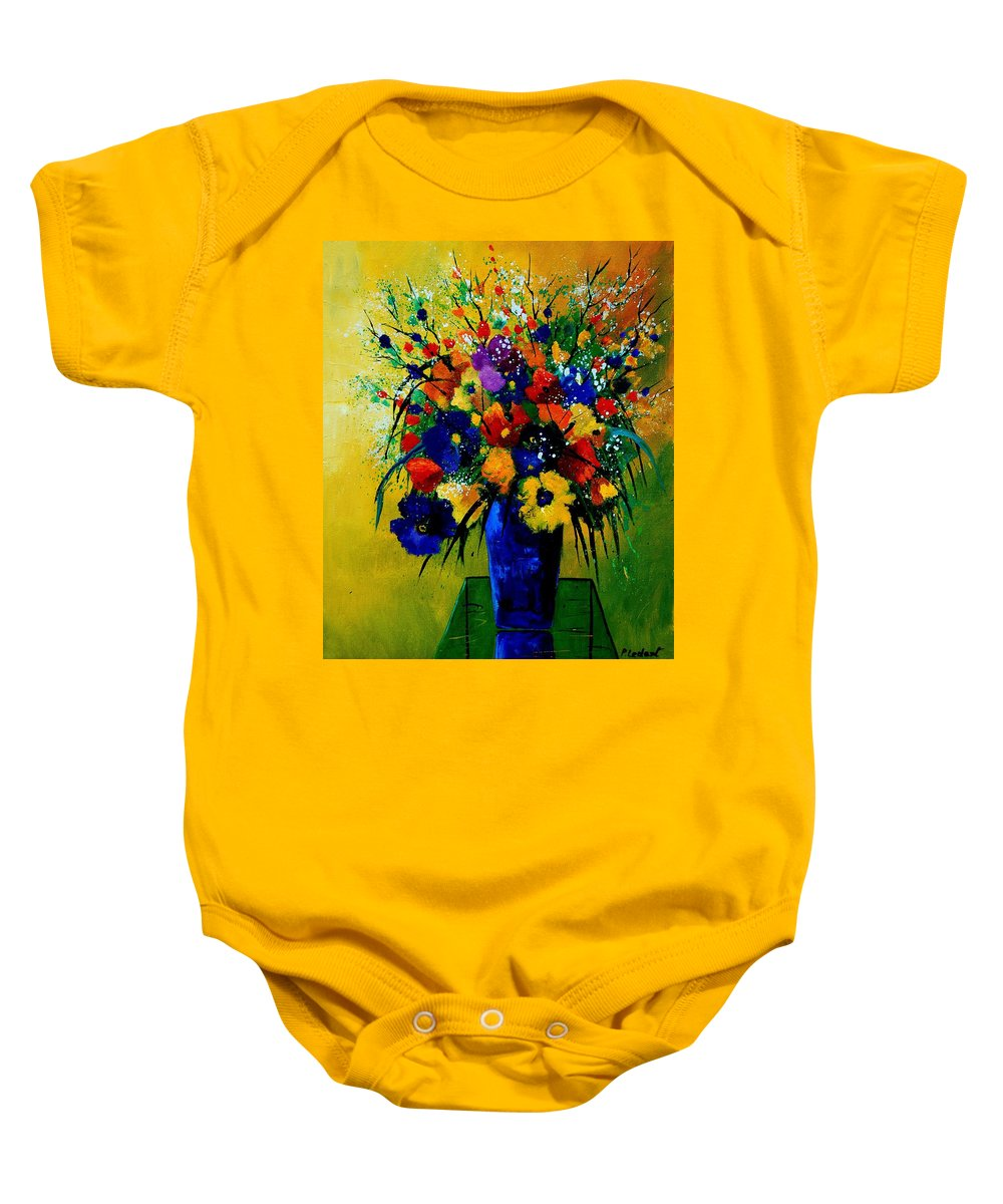 Poppies Baby Onesie featuring the painting Bunch 0508 by Pol Ledent