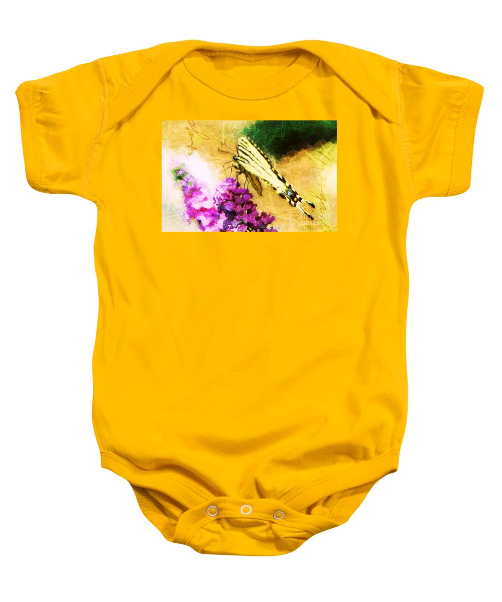Butterfly Baby Onesie featuring the photograph Butterfly Journey by Tina LeCour