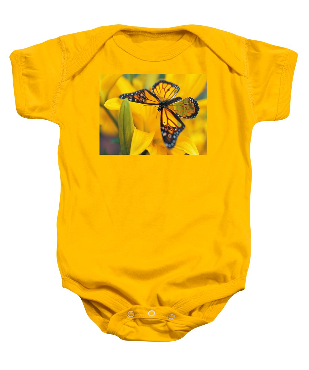 Butterfly Baby Onesie featuring the digital art Butterfly by Tim Allen
