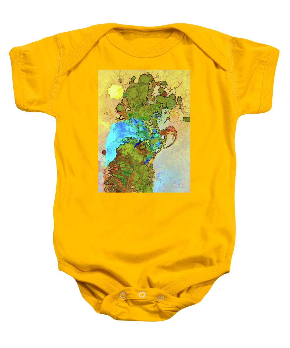 Abstract Baby Onesie featuring the digital art Cactus With Bandana by Francesa Miller