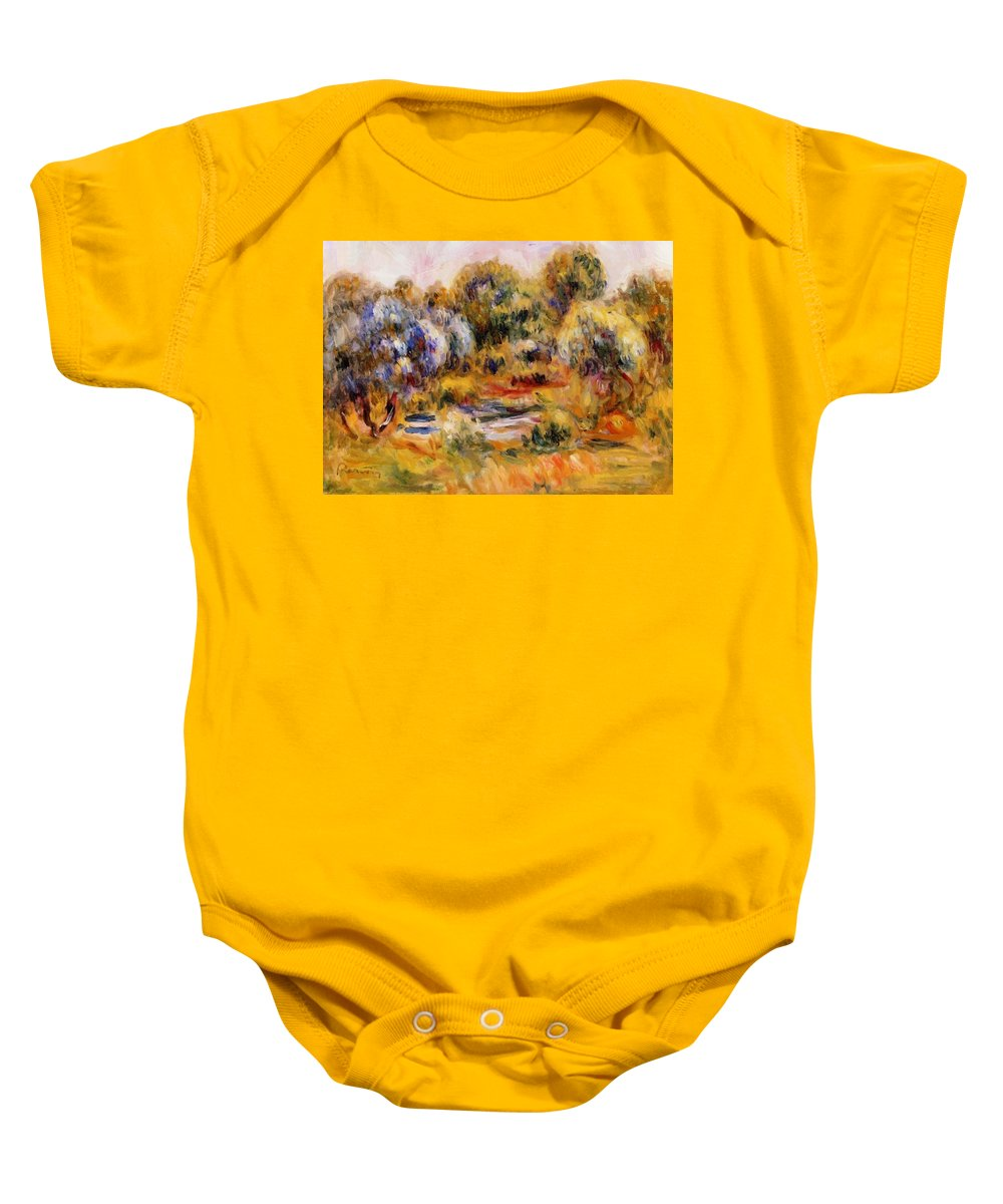 Cagnes Baby Onesie featuring the painting Cagnes Landscape 2 by Renoir PierreAuguste