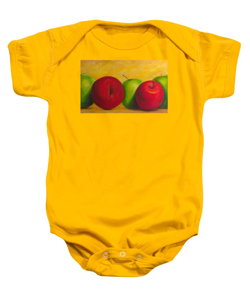 Still Life Baby Onesie featuring the painting Cancan by Shannon Grissom