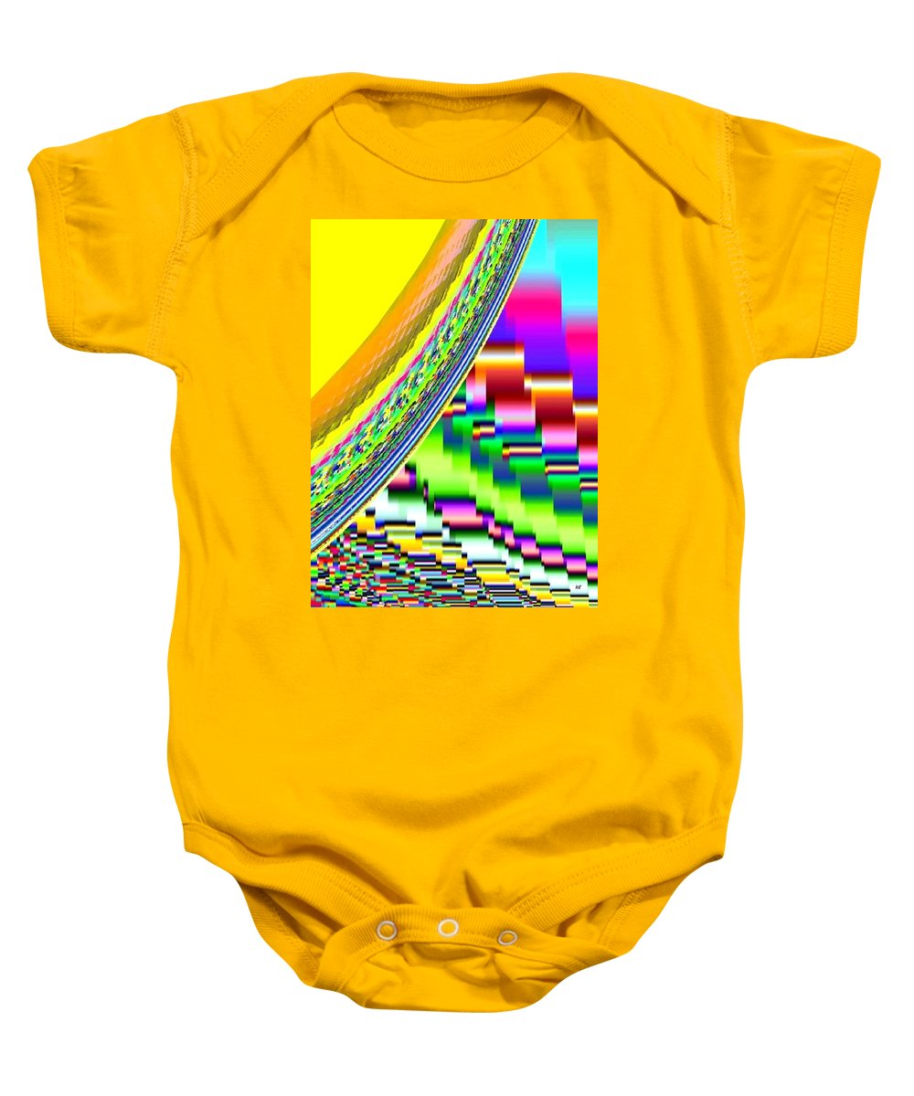 Abstract Baby Onesie featuring the digital art Candid Color 6 by Will Borden