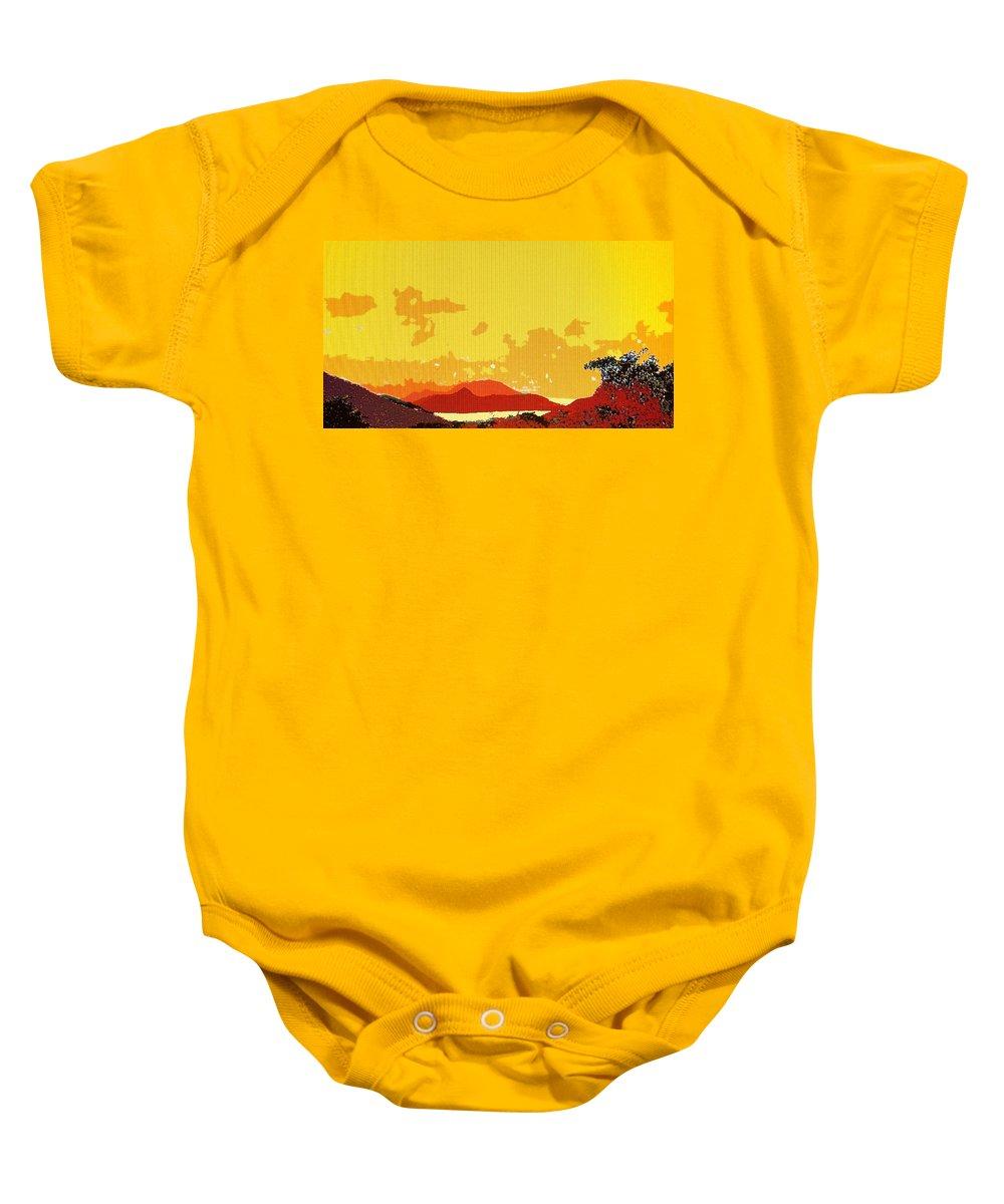 Caribbean Baby Onesie featuring the photograph Caribbean Sky by Ian MacDonald