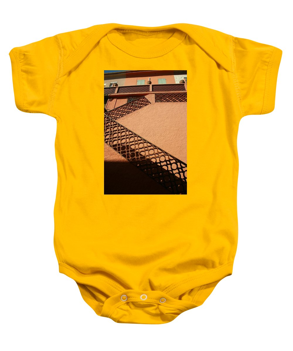 Stairs Baby Onesie featuring the photograph Cerbre France Stairs by Minaz Jantz