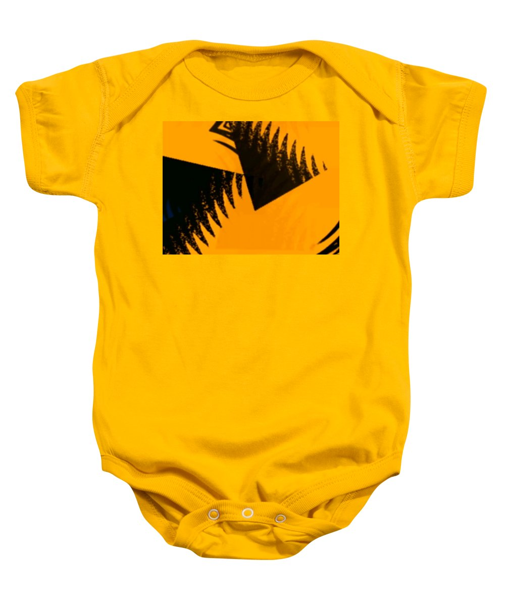 Art Digital Art Baby Onesie featuring the digital art Change - Leaf4 by Alex Porter