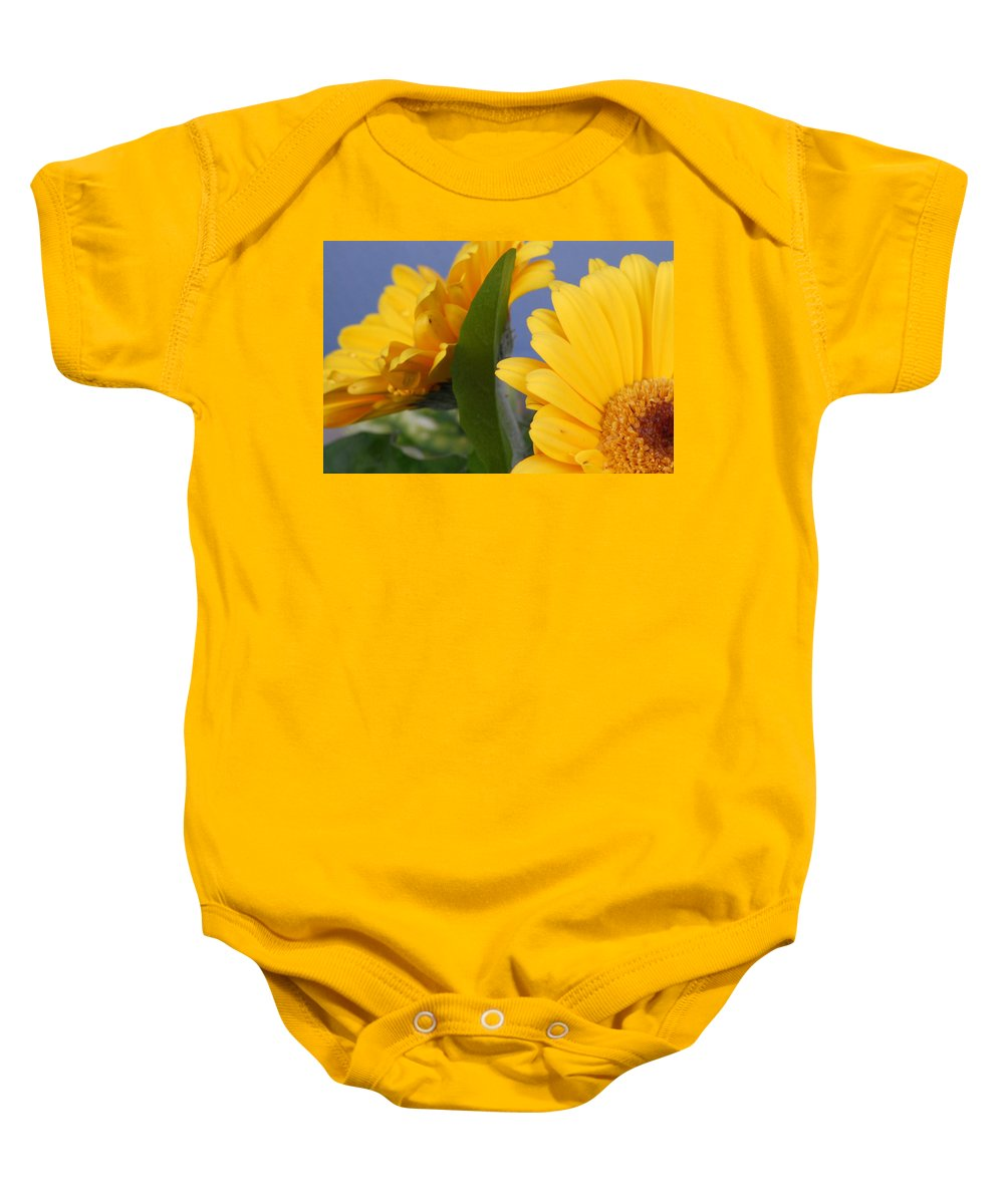 Gerbera Daisy Baby Onesie featuring the photograph Cheerful Gerbera Daisies by Amy Fose