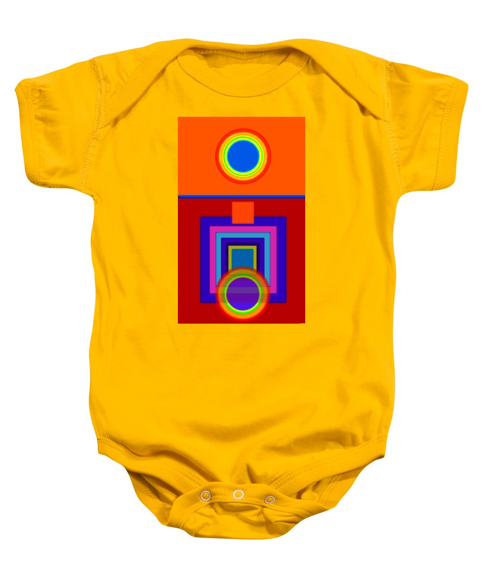 Classical Baby Onesie featuring the painting Classical Wheels by Charles Stuart