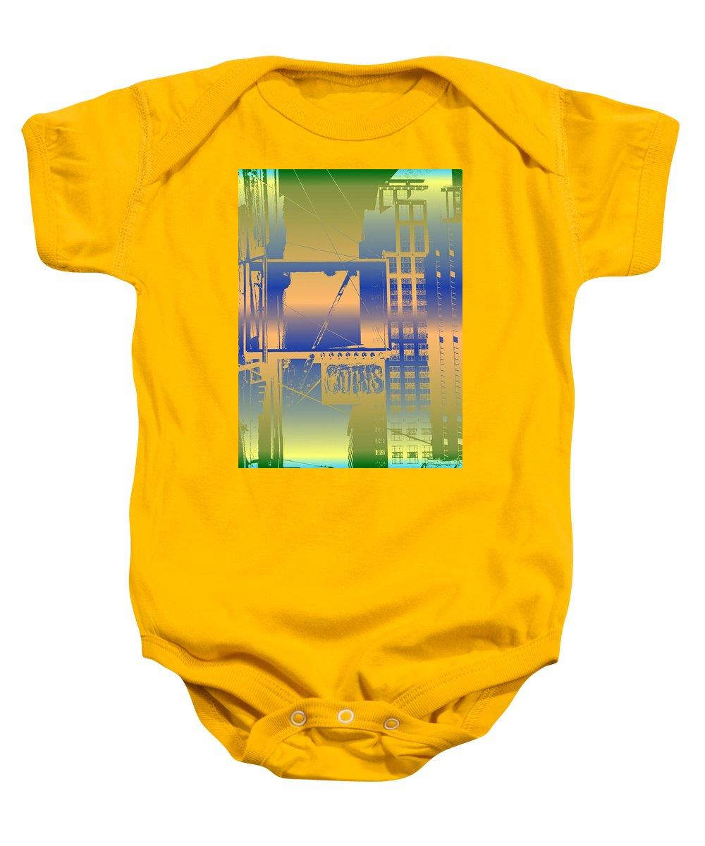 Seattle Baby Onesie featuring the digital art Coins by Tim Allen