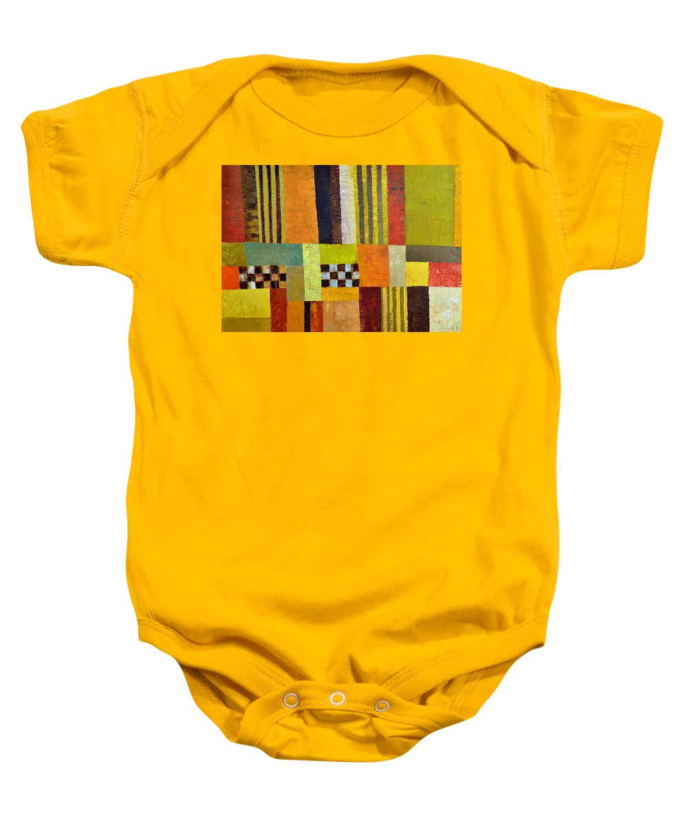 Colorful Baby Onesie featuring the painting Color And Pattern Abstract by Michelle Calkins
