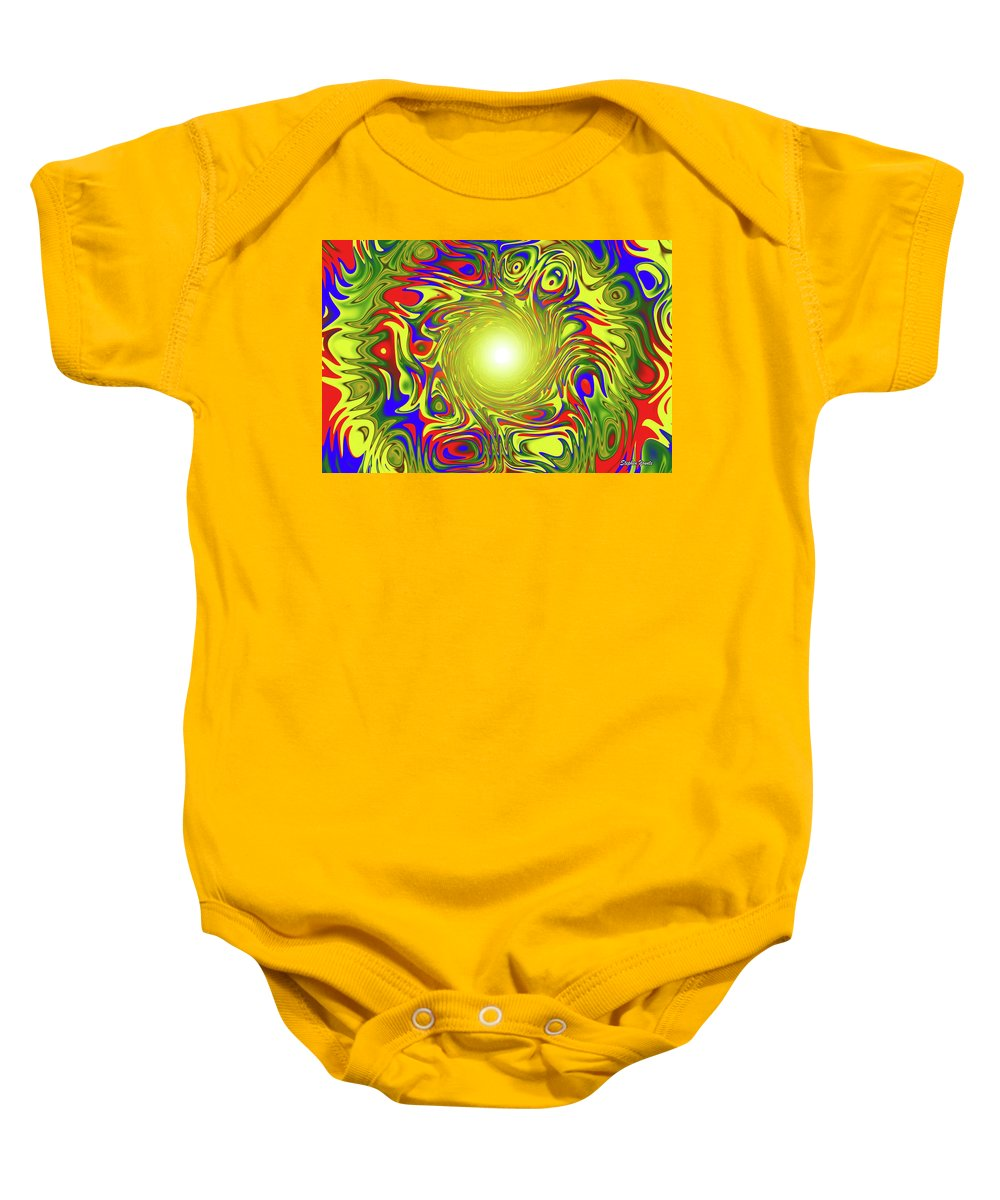 Abstract Baby Onesie featuring the digital art Color Funnel by Stephen Younts