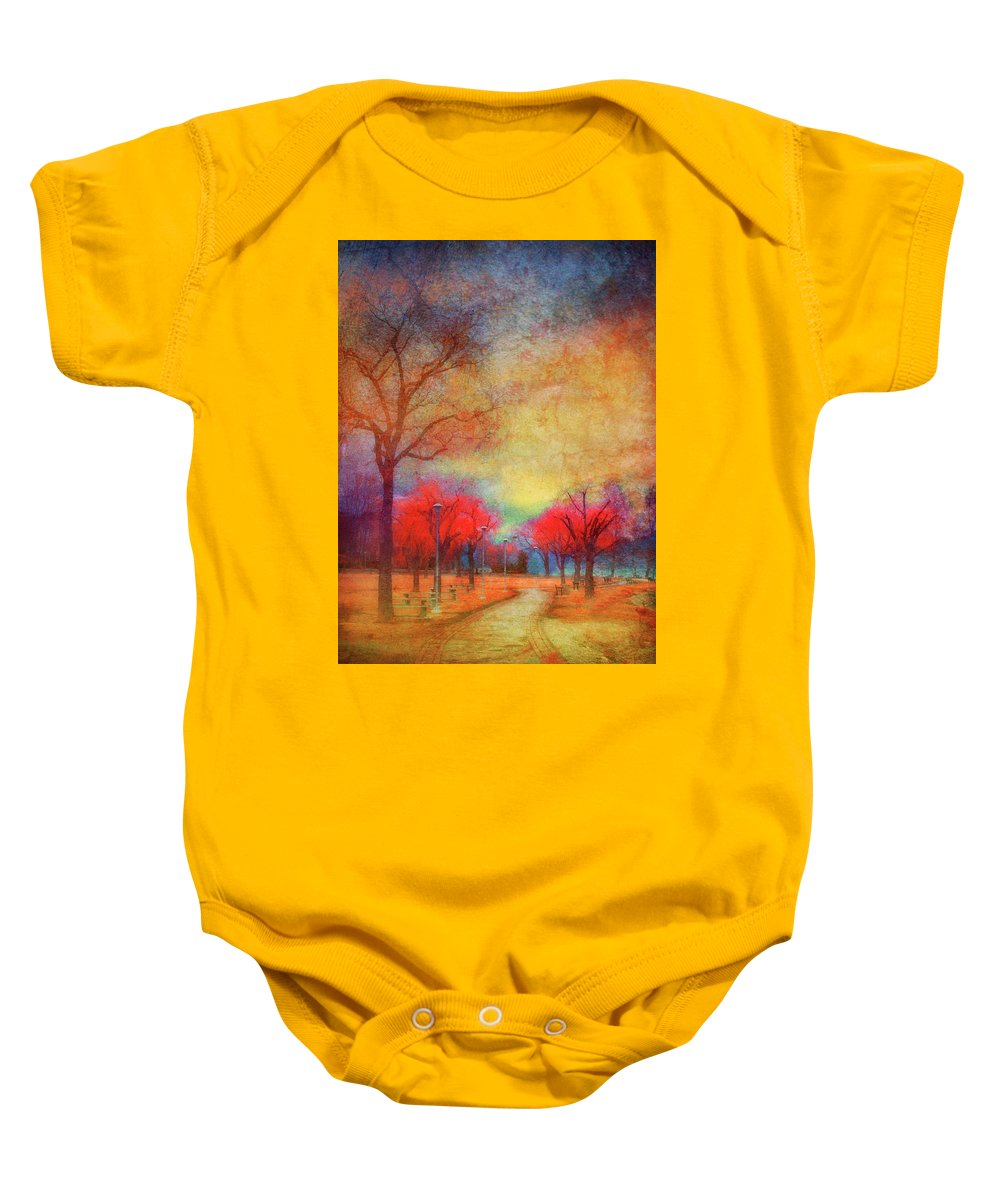 Trees Baby Onesie featuring the photograph Colour Burst by Tara Turner