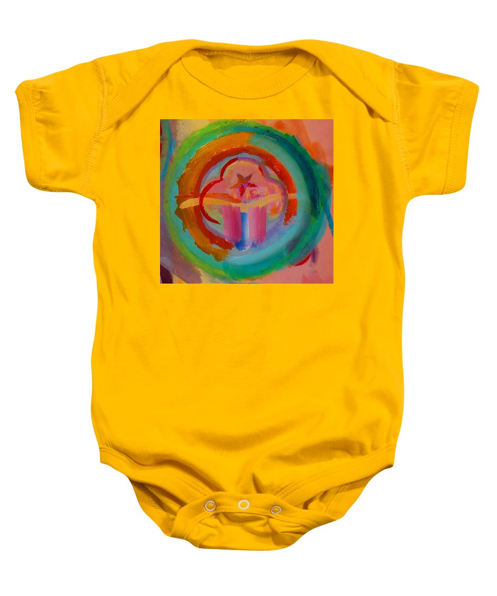 Logo Baby Onesie featuring the painting Colour States by Charles Stuart