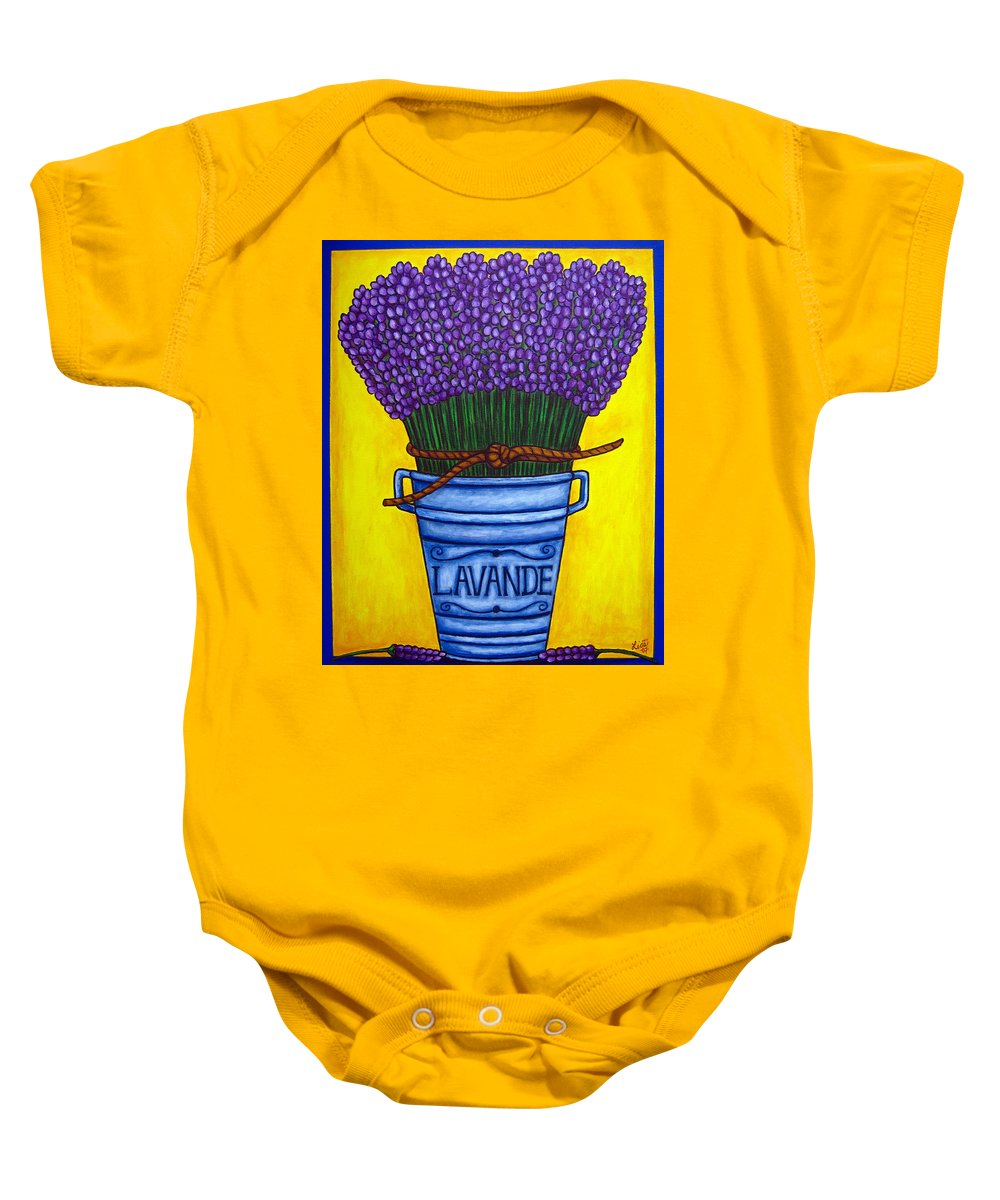 Antique Baby Onesie featuring the painting Colours Of Provence by Lisa Lorenz