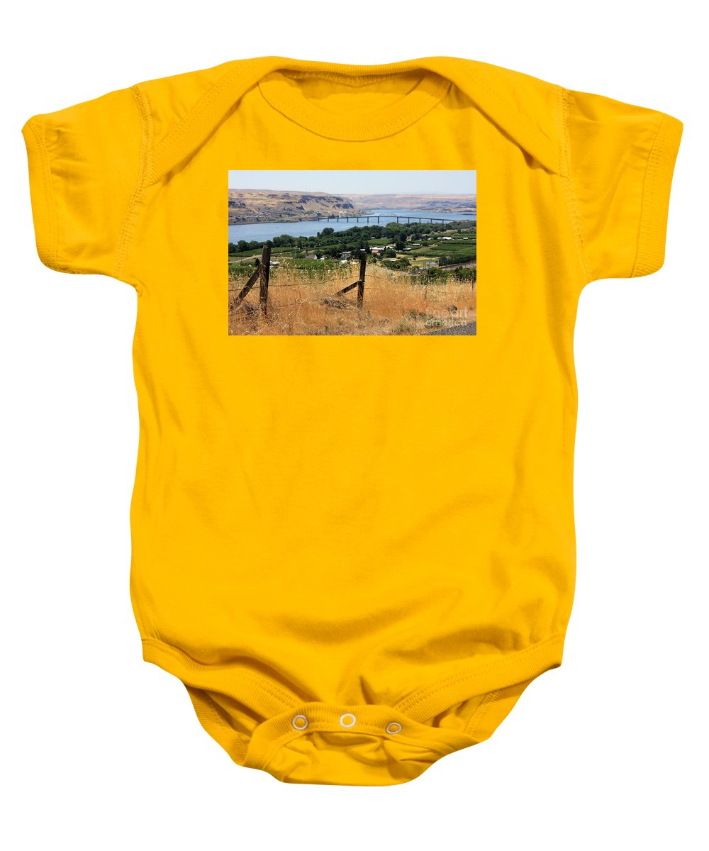 River Baby Onesie featuring the photograph Columbia River - Biggs And Maryhill State Park by Carol Groenen