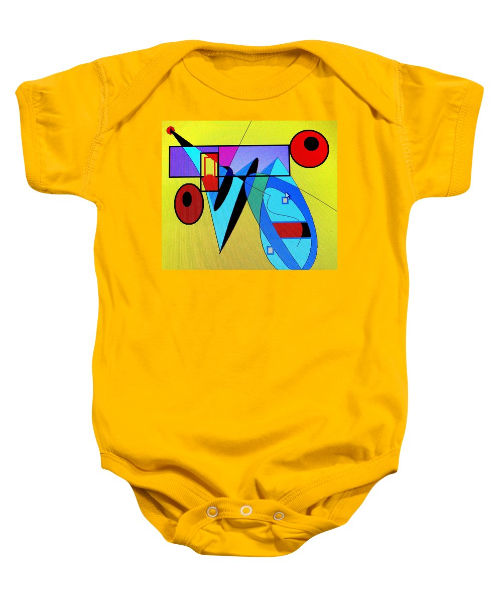 Horn Baby Onesie featuring the digital art Come Blow Your Horn by Ian MacDonald