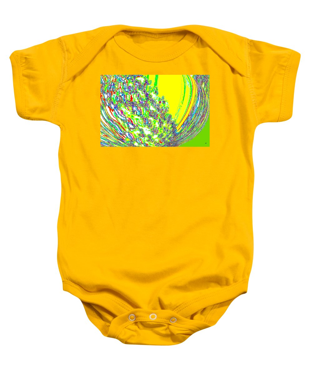 Abstract Baby Onesie featuring the digital art Coming Into Bloom by Will Borden