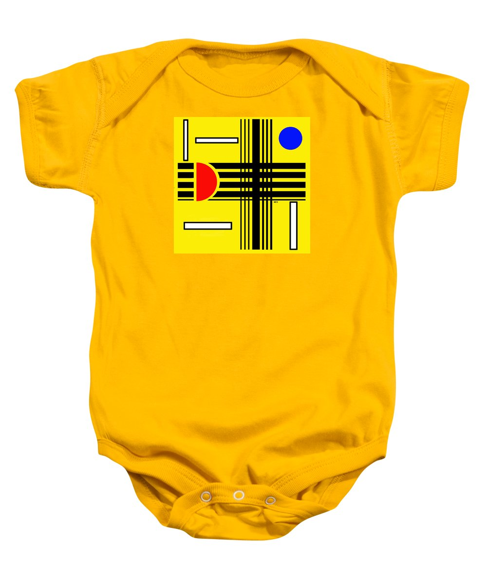 Abstract Baby Onesie featuring the digital art Composition 3 by Lois Boyce