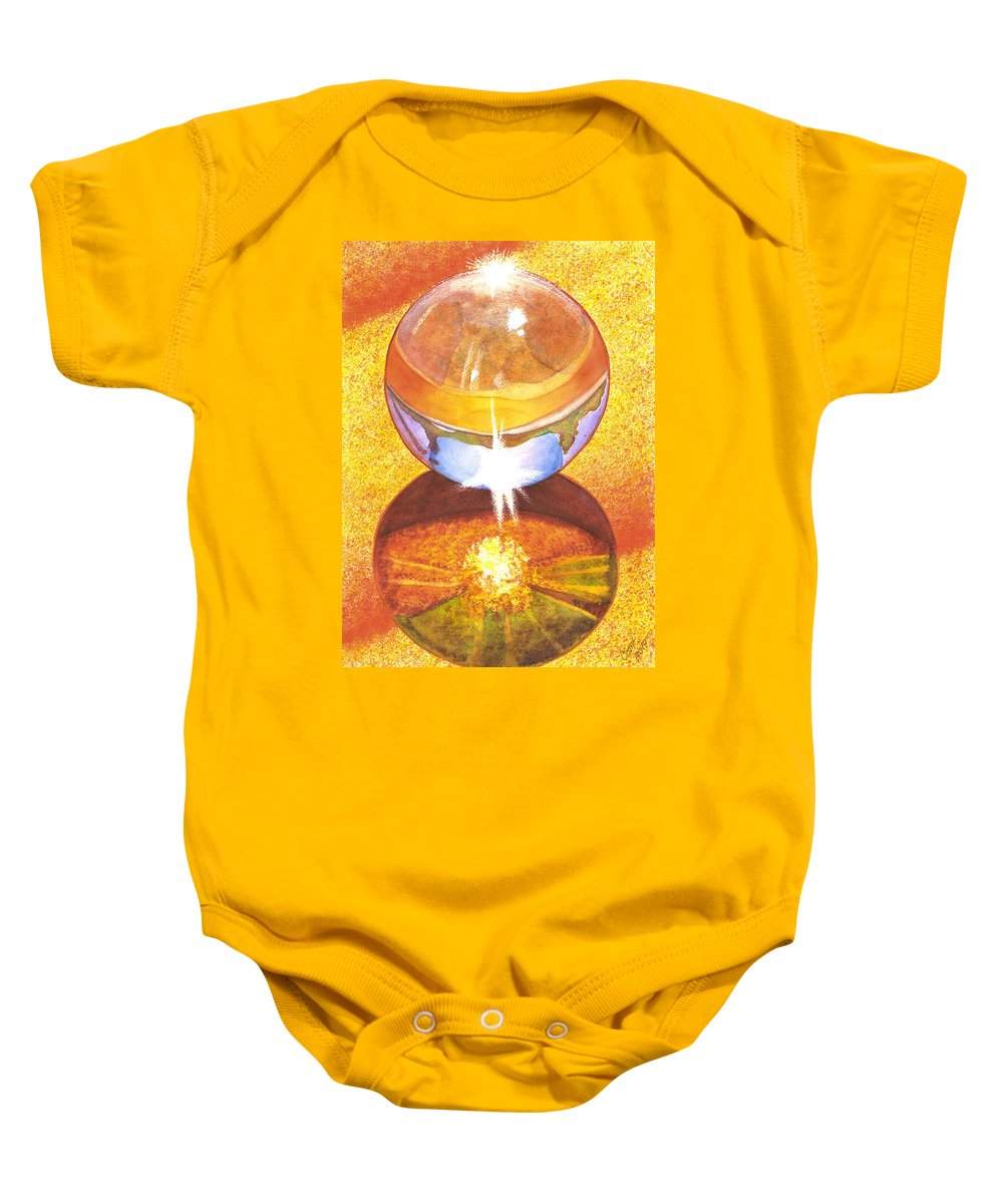 Marble Baby Onesie featuring the painting Crystal Ball by Catherine G McElroy