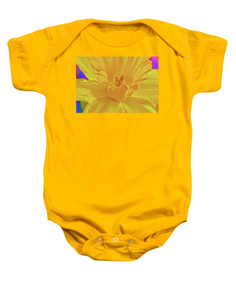 Flower Baby Onesie featuring the photograph Daffodil In Spring by Charles Muhle