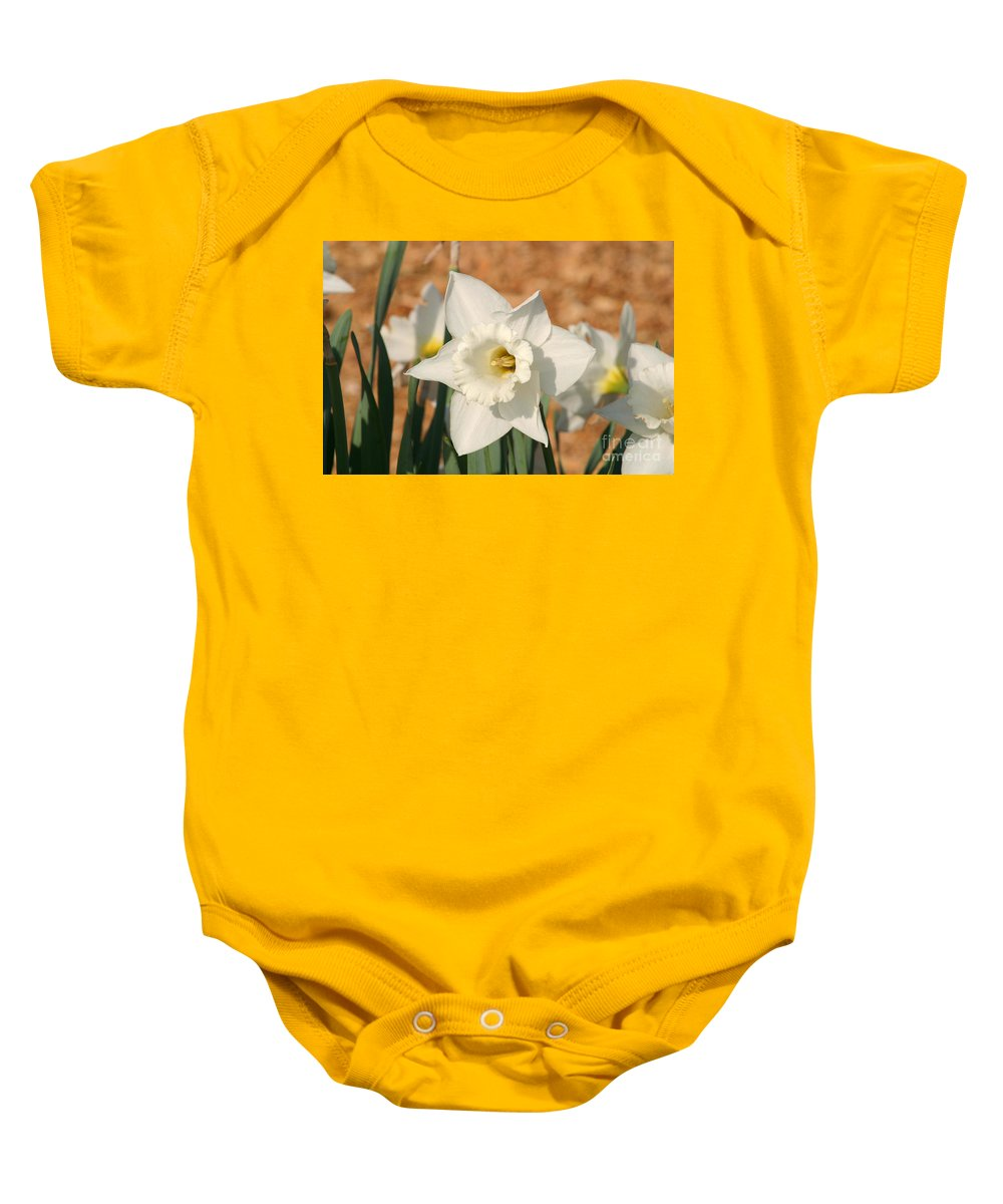 Dafodil Baby Onesie featuring the photograph Dafodil168 by Gary Gingrich Galleries