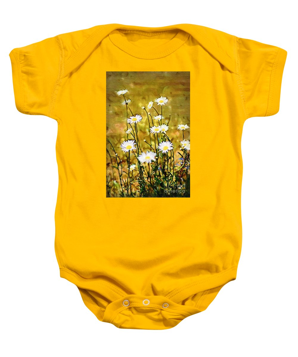 Daisy Baby Onesie featuring the photograph Daisy Field by Donna Bentley