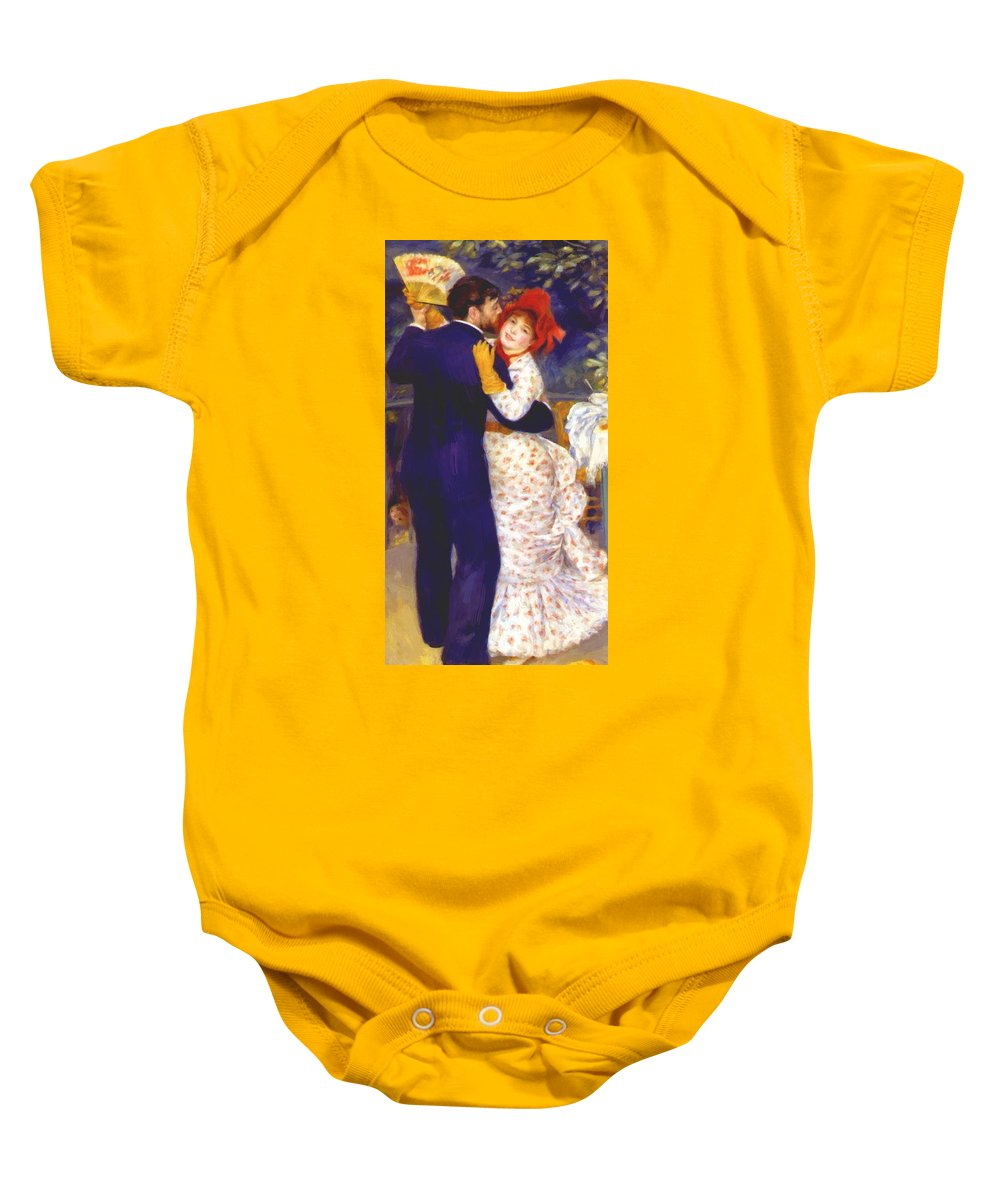 Dance Baby Onesie featuring the painting Dance In The Country 1883 1 by Renoir PierreAuguste