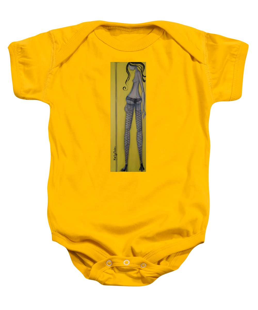 Dancer Baby Onesie featuring the painting Dancer by Kelly Jade King