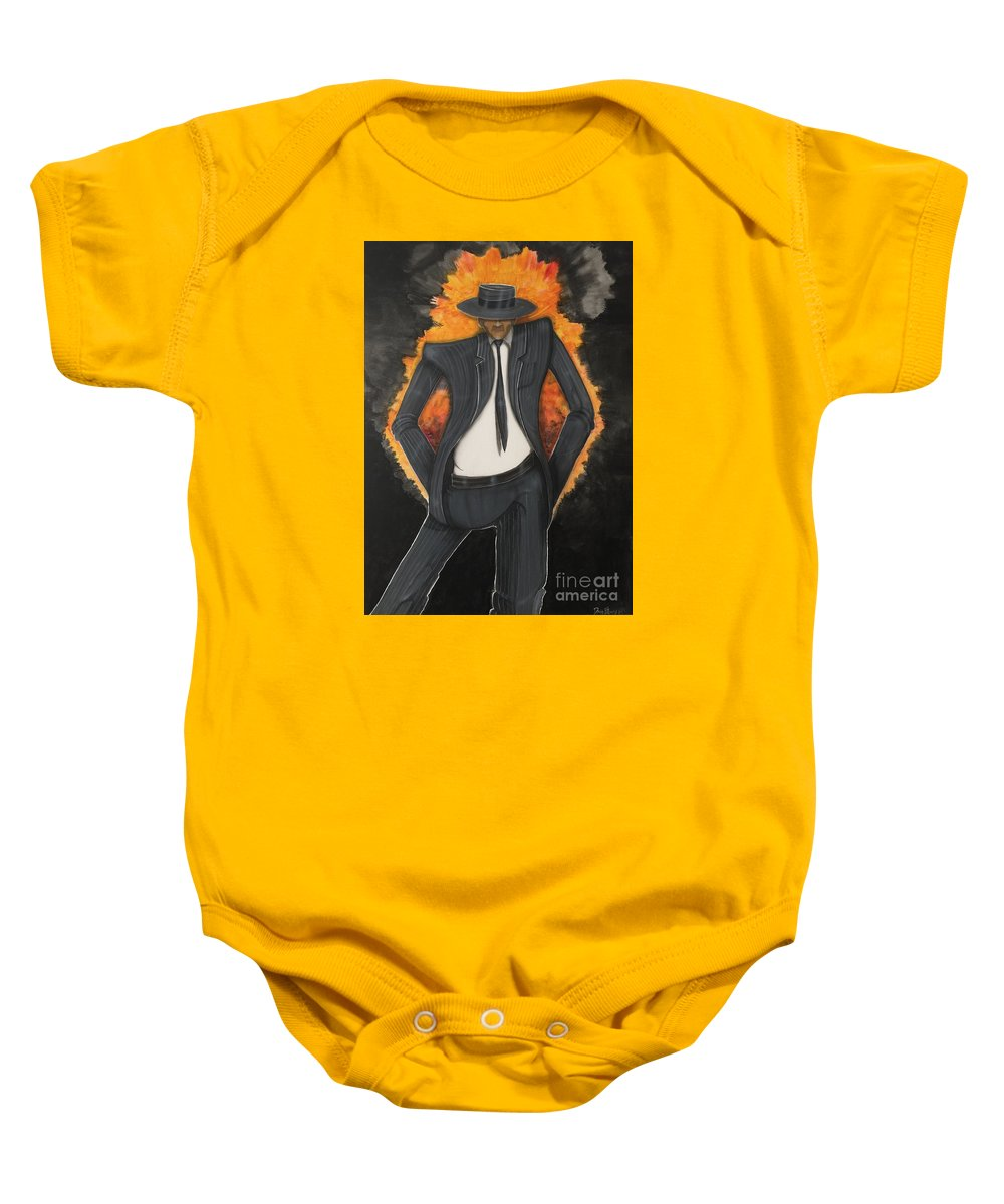 Dancing Baby Onesie featuring the painting Dancer2 by Douglas Berry