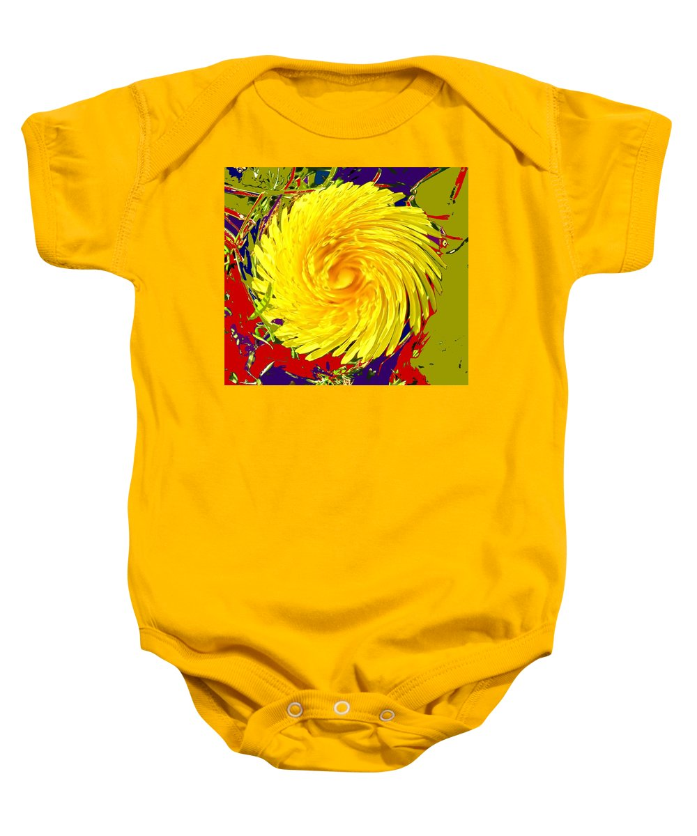 Flower Baby Onesie featuring the photograph Dandy Three by Ian MacDonald
