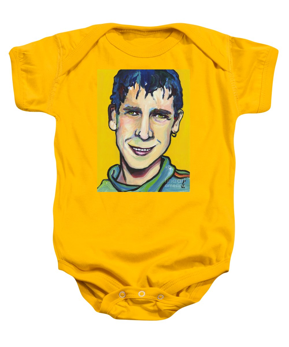 Portrait Baby Onesie featuring the painting Daniel by Pat Saunders-White