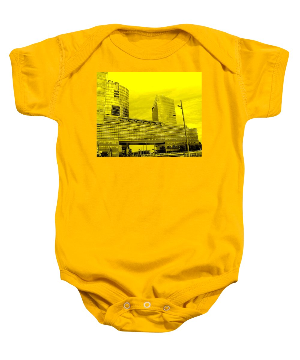 Vienna Baby Onesie featuring the photograph Daring Architecture by Ian MacDonald