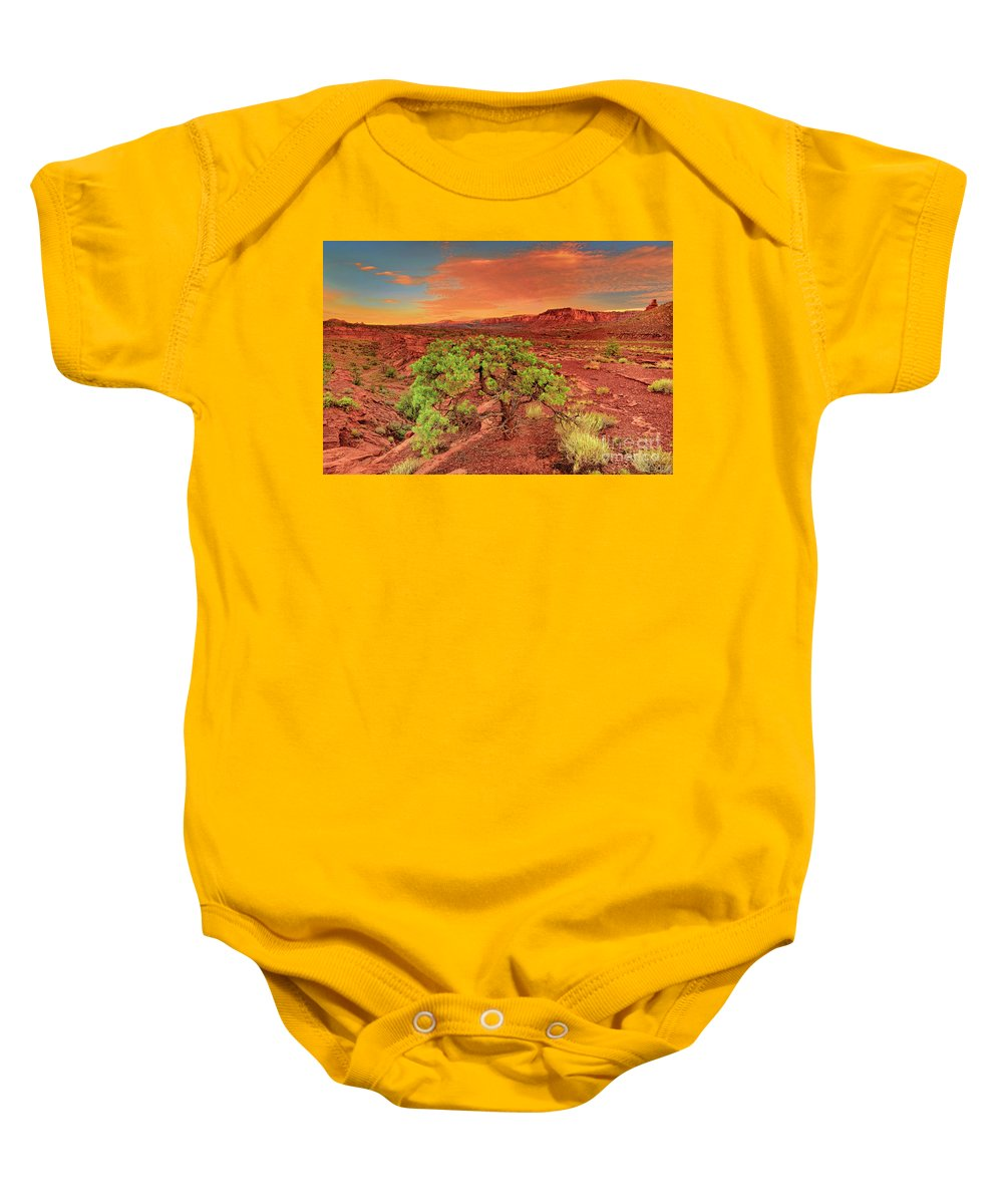 North America Baby Onesie featuring the photograph Dawn Light Capitol Reef National Park Utah by Dave Welling