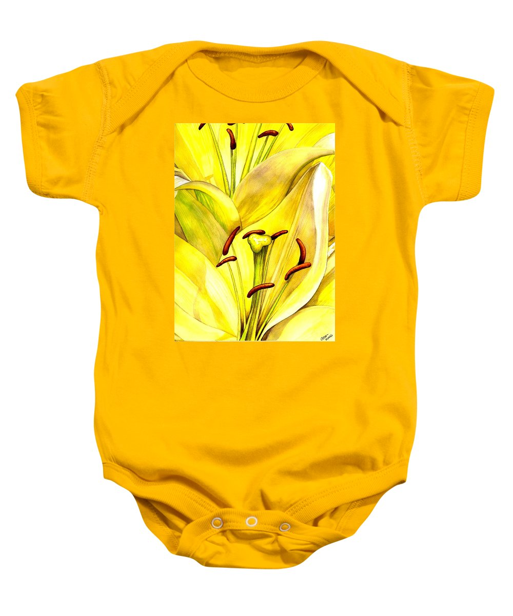 Lily Baby Onesie featuring the painting Daylily by Catherine G McElroy