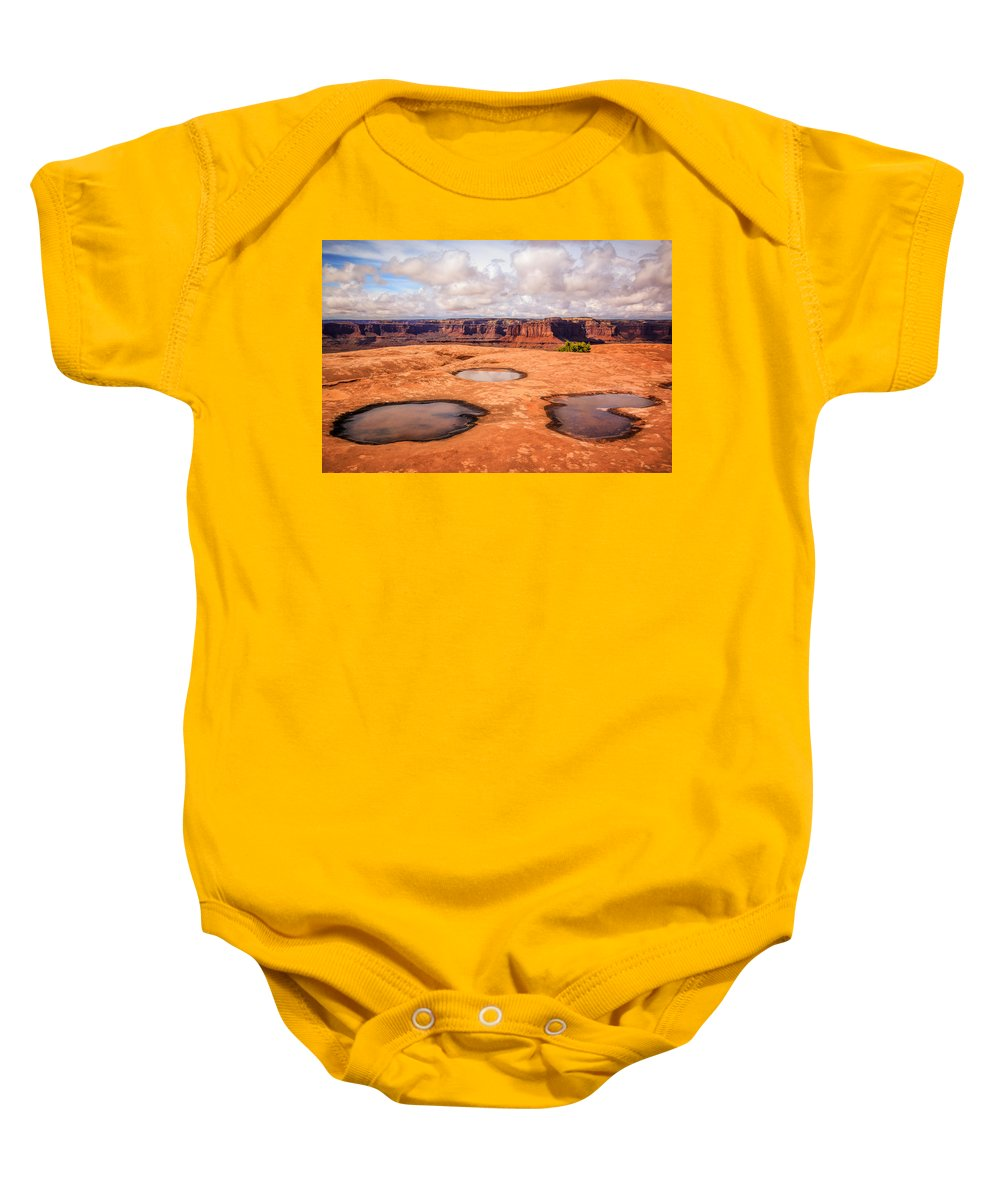 Landscape Baby Onesie featuring the photograph Dead Horse Pools by Gina Herbert