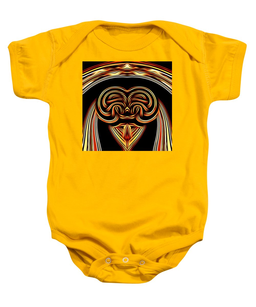 Abstract Baby Onesie featuring the digital art Dear How Do I Look In This Outfit by Debra Lynch