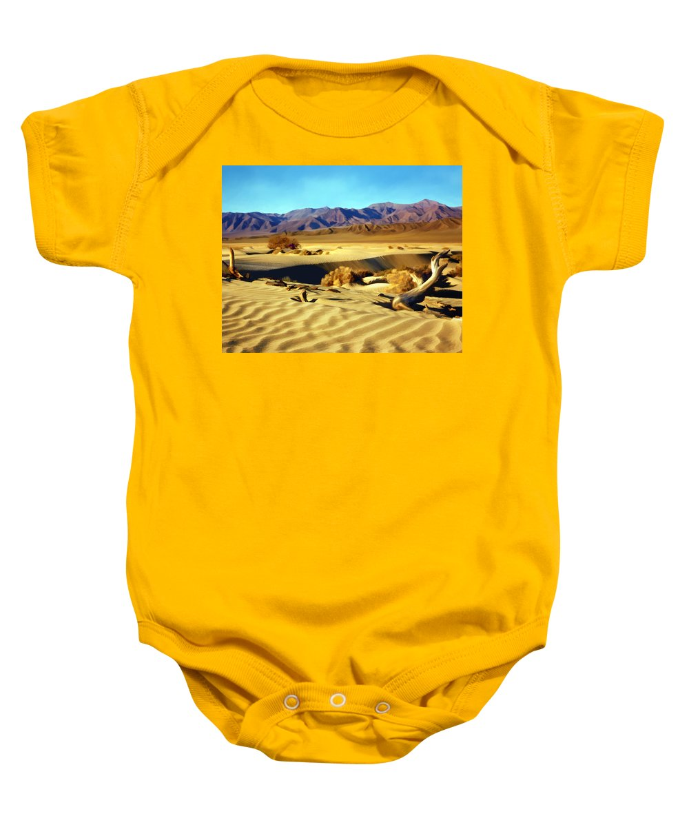 Death Valley Baby Onesie featuring the photograph Death Valley by Kurt Van Wagner
